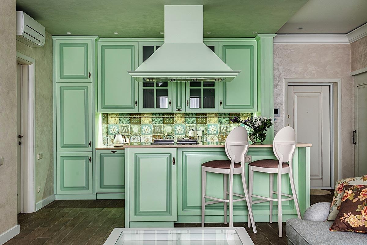 зеленая кухня средиземноморский стиль