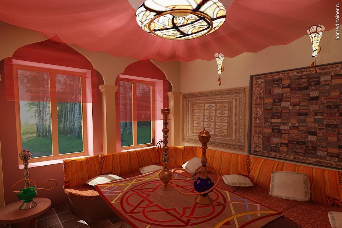 восточный стиль кухонного окна