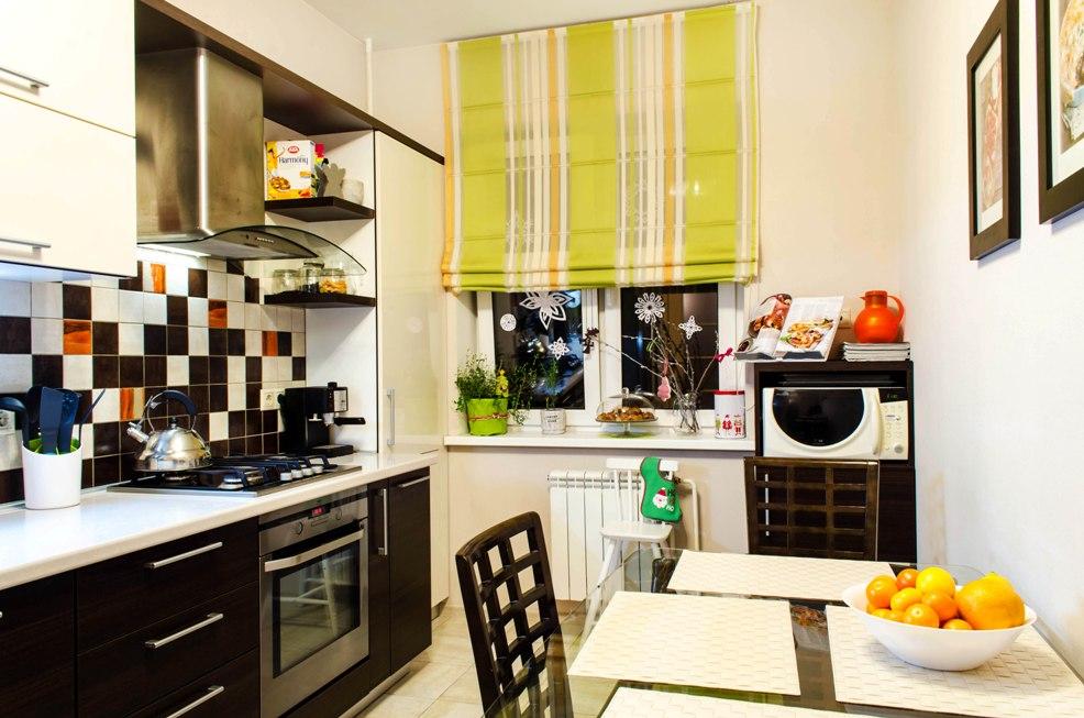 декор окна на кухне идеи дизайна