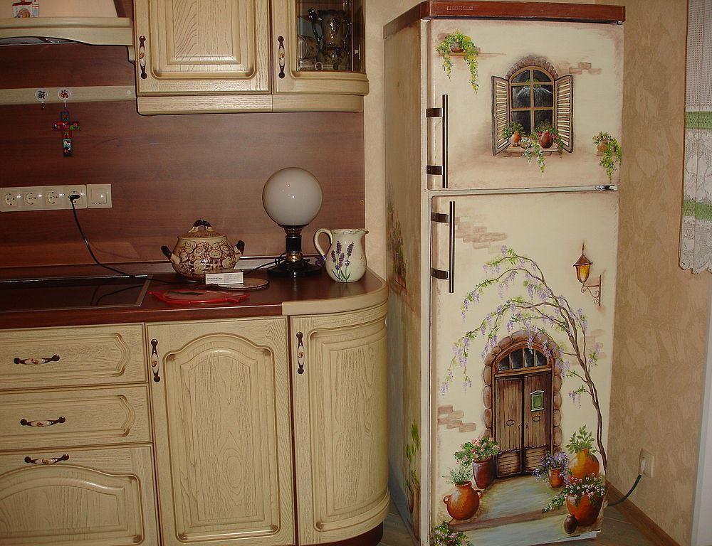 дизайн роспись холодильника
