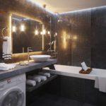 вариант необычного дизайна ванной комнаты фото