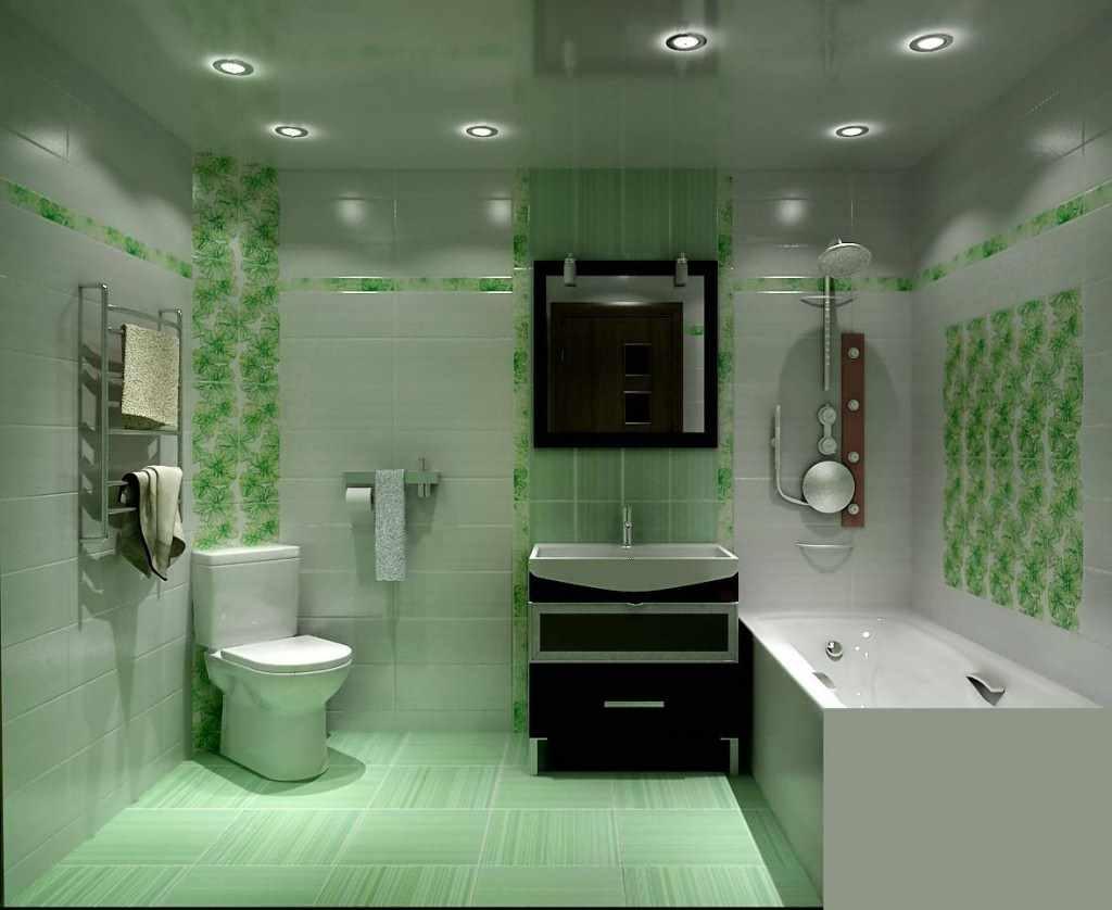 идея яркого декора ванной комнаты
