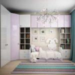 вариант светлого декора спальной комнаты для девочки картинка