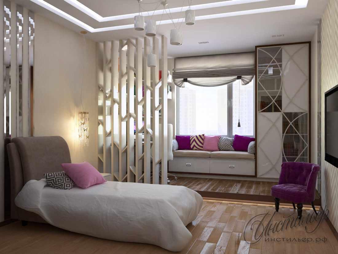 идея светлого стиля спальни для девочки