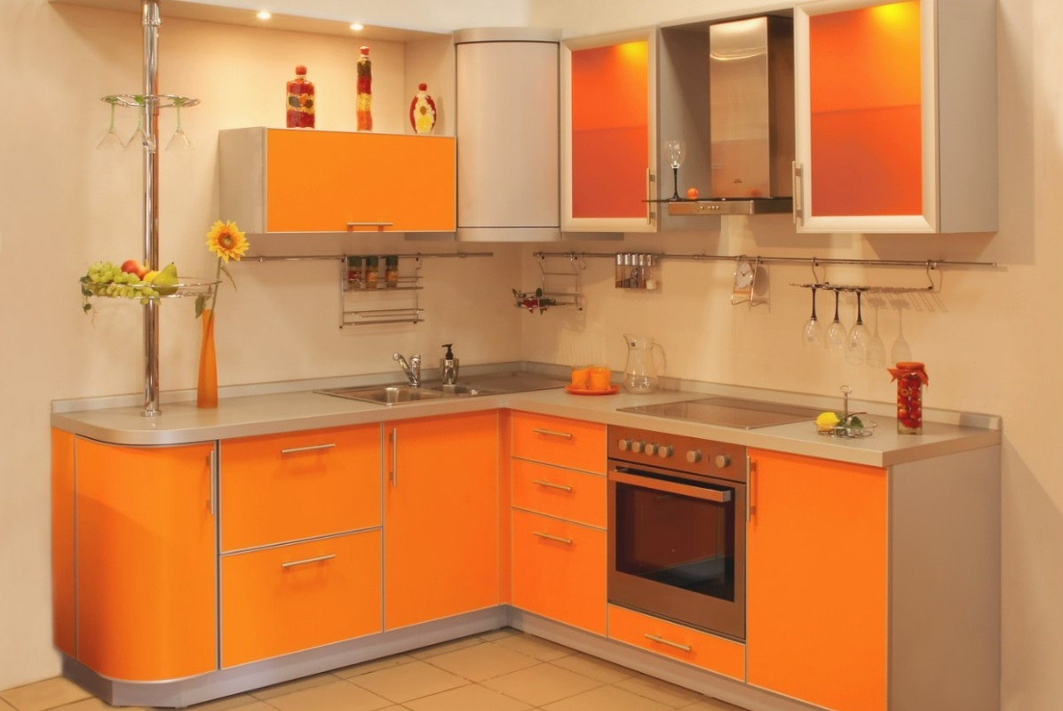 пример красивого стиля угловой кухни
