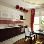 идея необычного интерьера красной кухни картинка