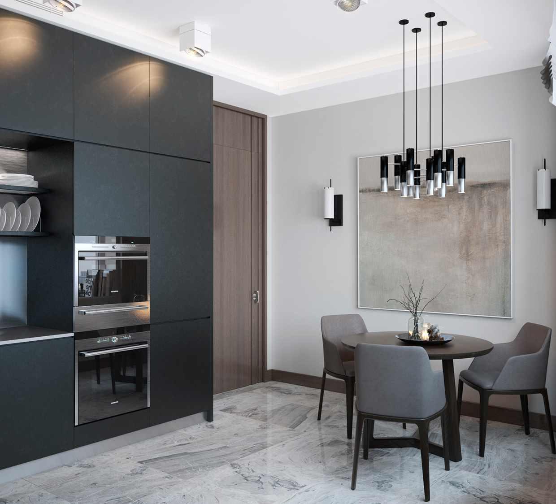идея яркого дизайна кухни