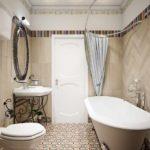 вариант яркого декора ванной комнаты картинка