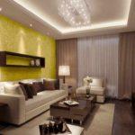 идея яркого стиля обоев для гостиной картинка
