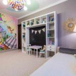 вариант необычного декора спальни для девочки картинка