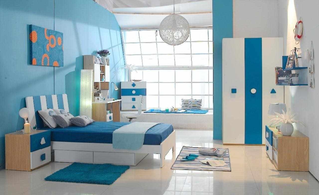 идея светлого дизайна детской комнаты