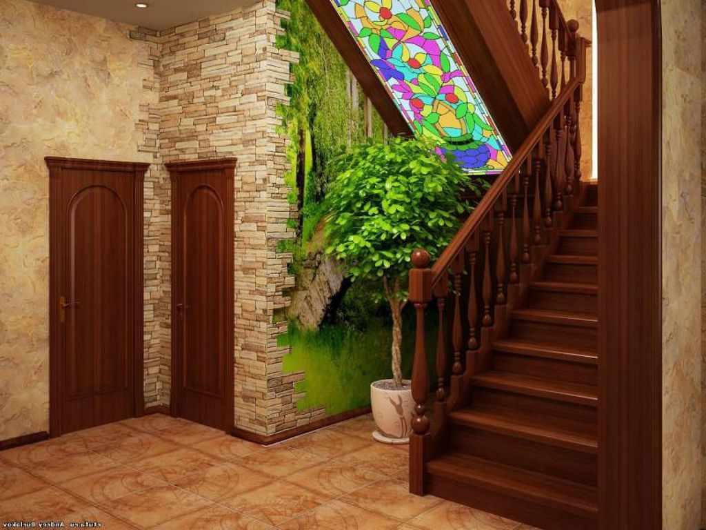 пример красивого стиля прихожей в частном доме