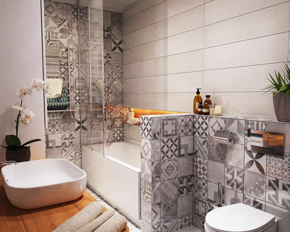 пример светлого стиля ванной комнаты