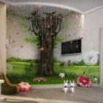 идея светлого стиля детской комнаты фото