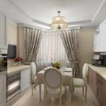 вариант светлого интерьера кухни картинка
