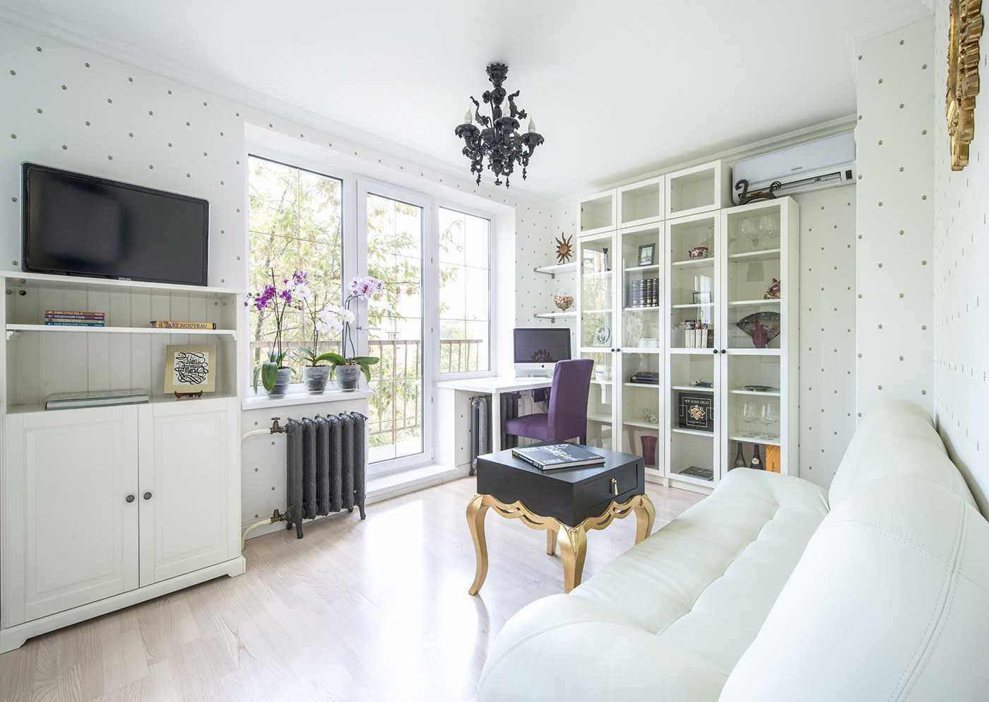 пример яркого стиля обоев для гостиной