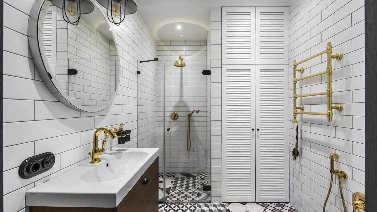 пример красивого интерьера ванной комнаты