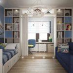 идея необычного интерьера детской комнаты фото