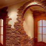 пример красивого стиля коридора в частном доме фото