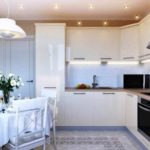 идея необычного дизайна угловой кухни фото