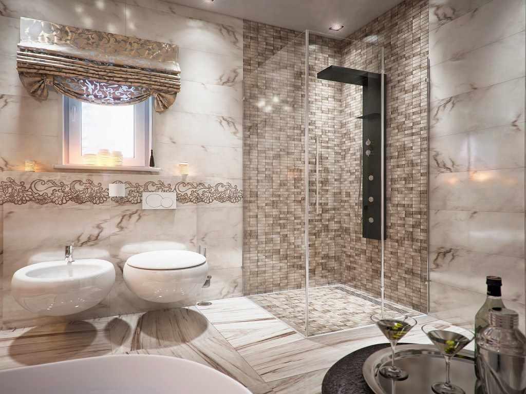 идея красивого декора ванной комнаты