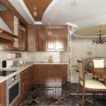 пример красивого дизайна кухни картинка