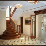 вариант светлого интерьера прихожей в частном доме картинка