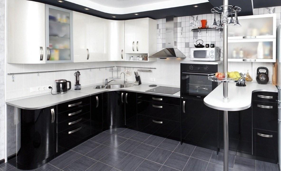 идея красивого стиля угловой кухни