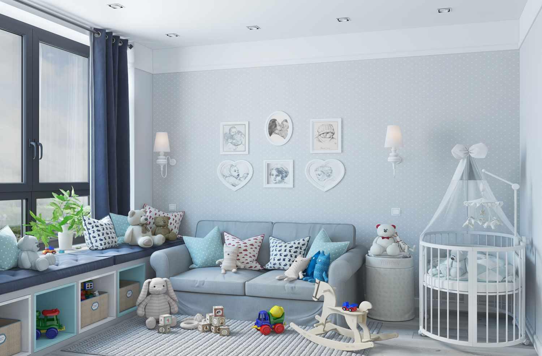 пример красивого стиля детской комнаты