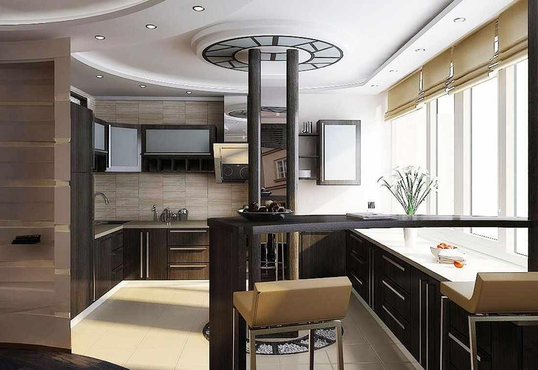 вариант светлого интерьера кухни