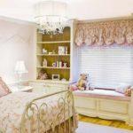 вариант яркого стиля спальной комнаты для девочки картинка