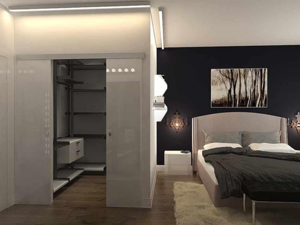 пример красивого декора спальной комнаты 15 кв.м