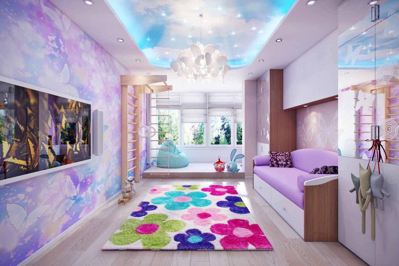 идея светлого интерьера детской комнаты