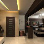 идея красивого дизайна прихожей комнаты картинка