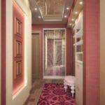 вариант красивого интерьера коридора в частном доме фото