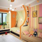 идея светлого декора спальной комнаты для девочки фото