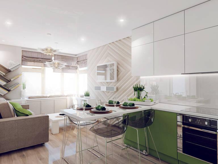 кухня гостиная 15 кв м