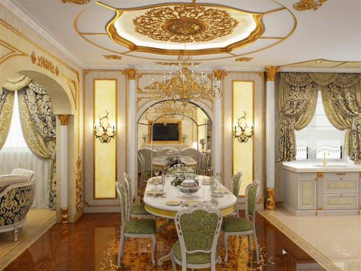 отделка кухни в стиле барокко