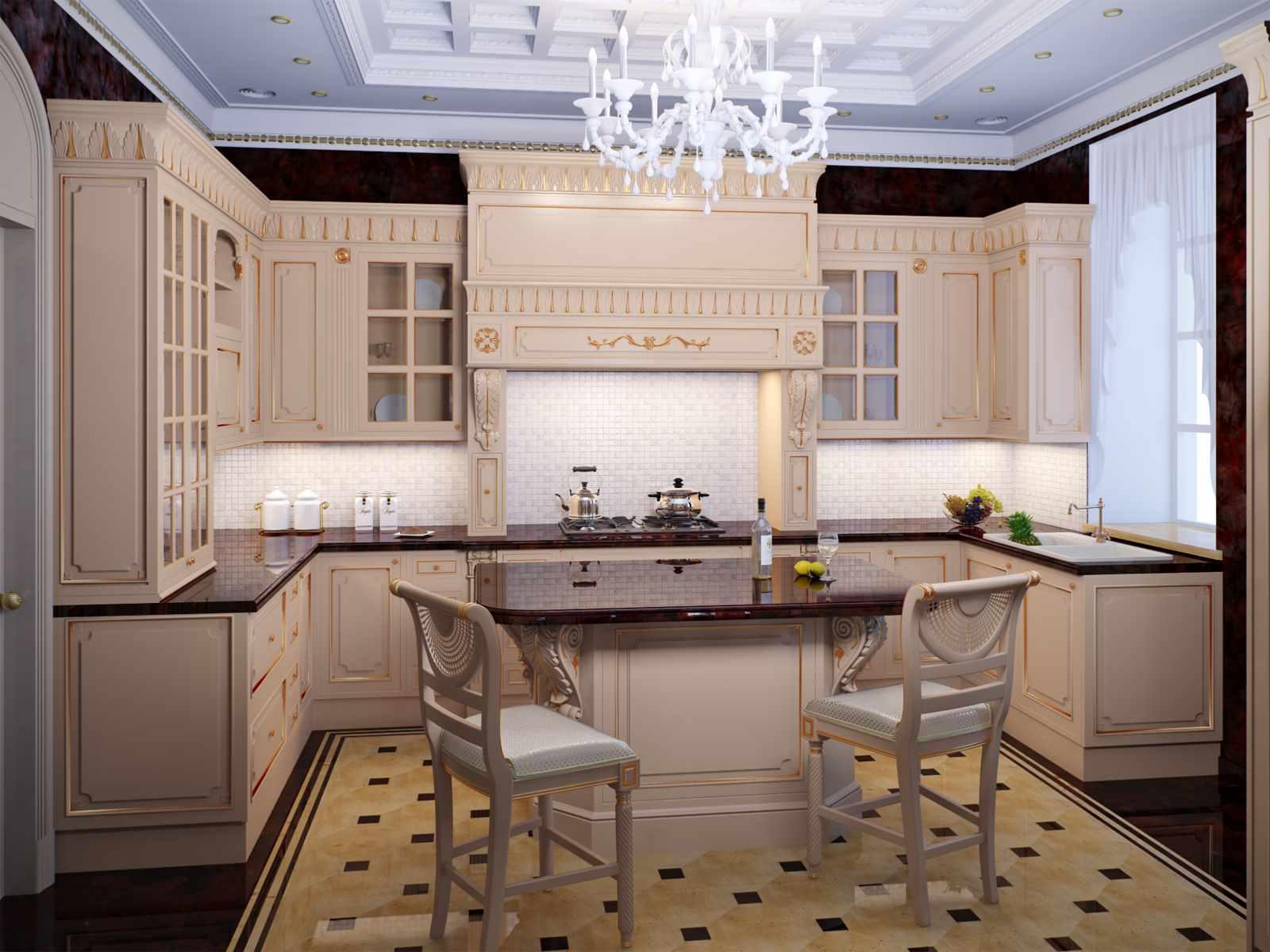 идея необычного дизайна кухни
