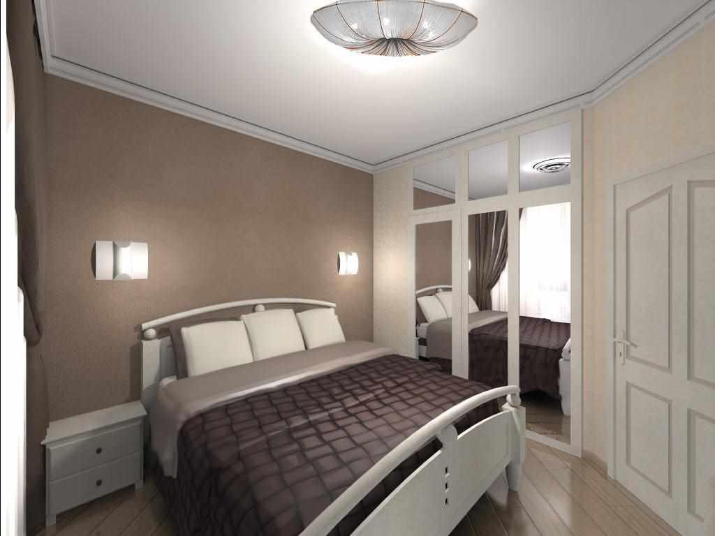 пример светлого стиля спальни 15 кв.м