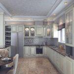 вариант необычного интерьера кухни гостиной 16 кв.м фото