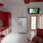 пример яркого дизайна кухни фото