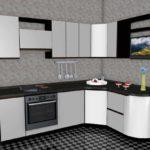 пример светлого дизайна угловой кухни картинка