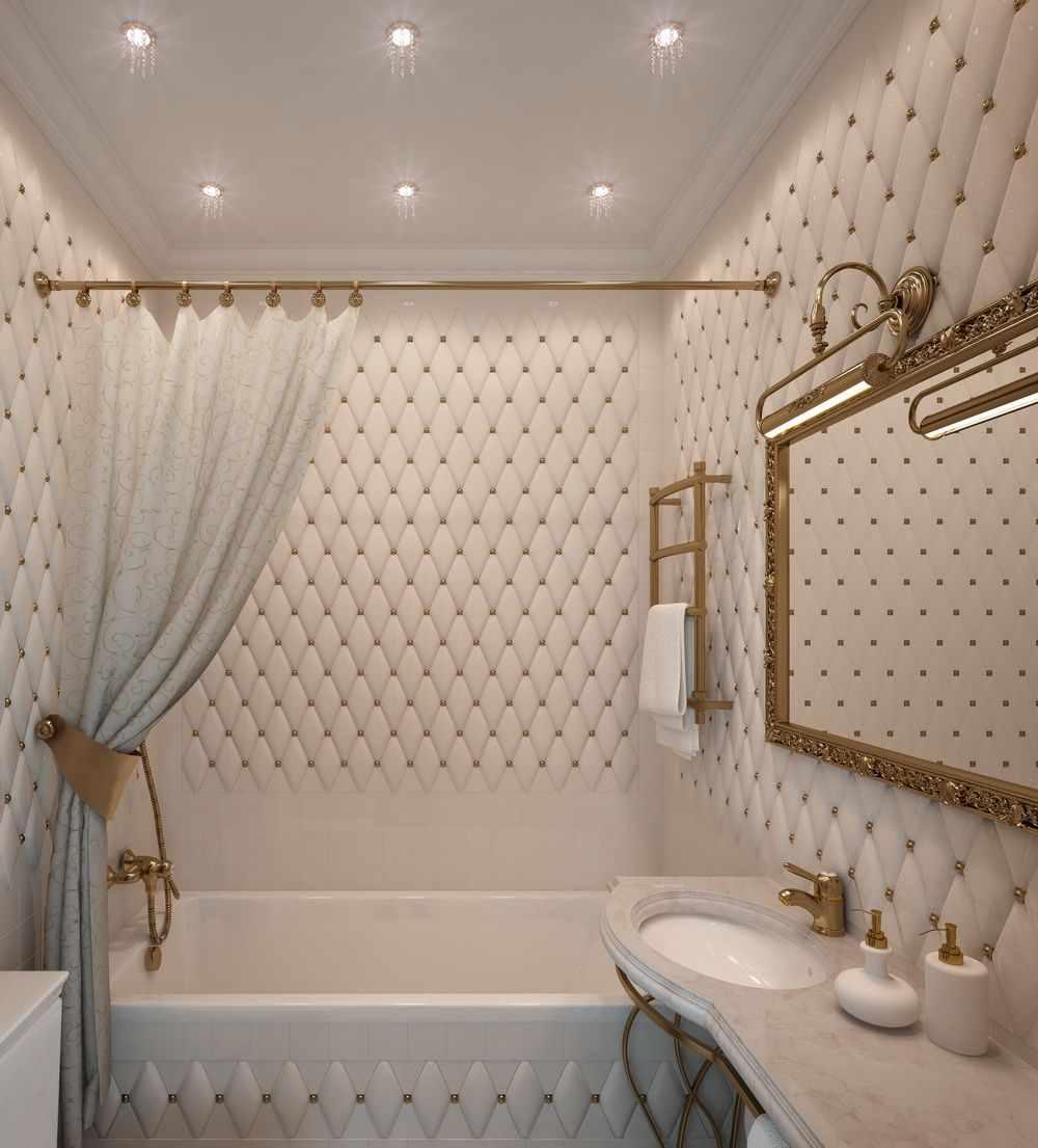 пример необычного интерьера ванной комнаты