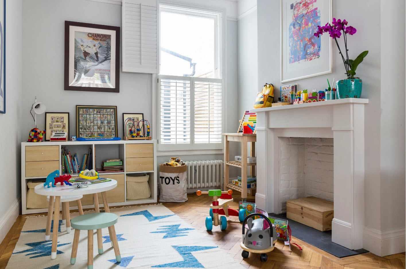 пример необычного стиля детской комнаты