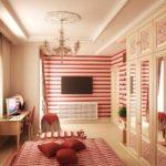 пример необычного стиля спальни для девочки картинка
