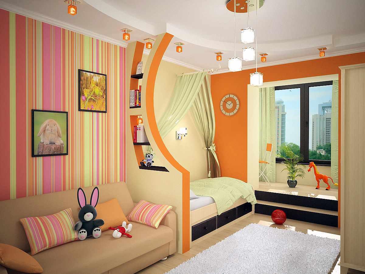 идея яркого дизайна детской комнаты