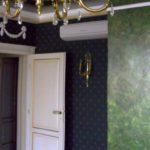 пример использования необычной декоративной штукатурки в интерьере ванной фото