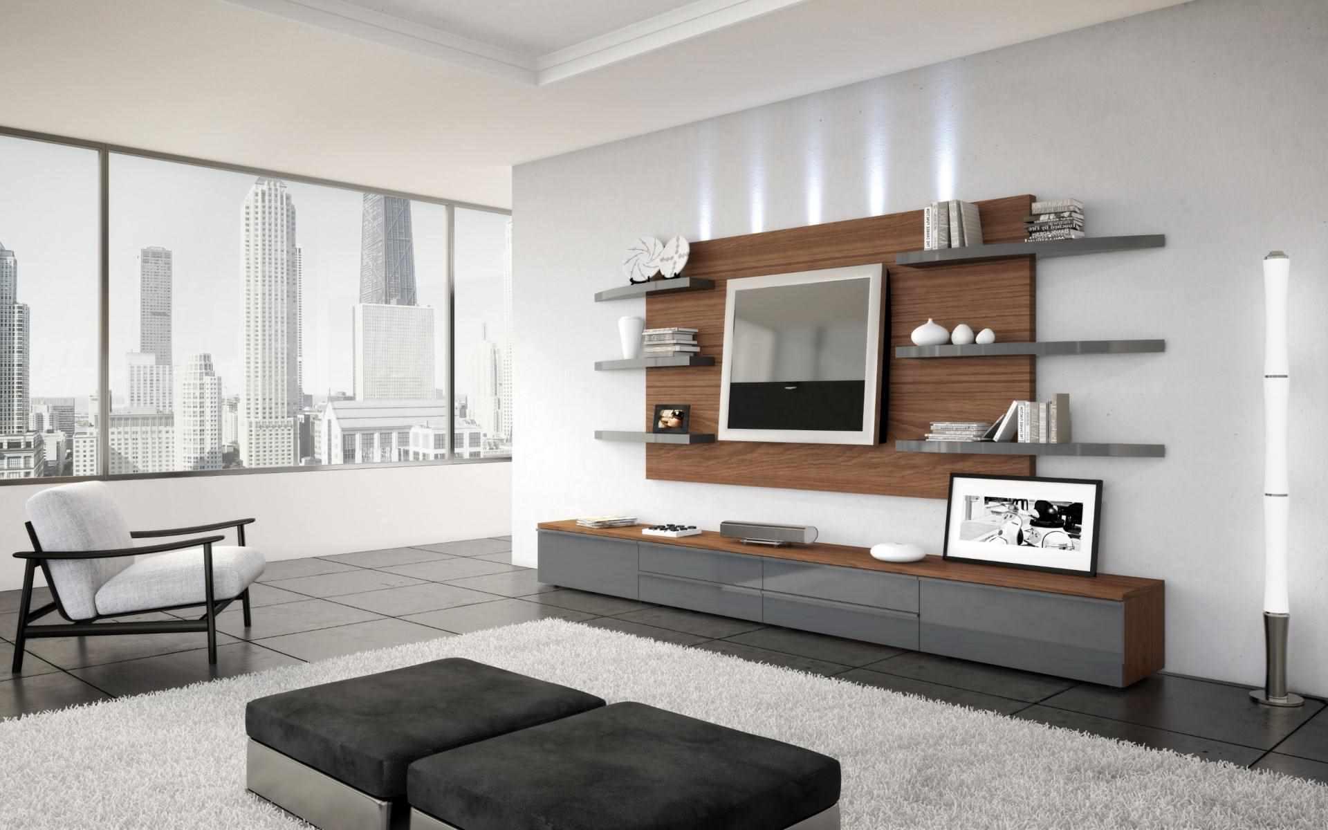 идея яркого дизайна обоев для гостиной