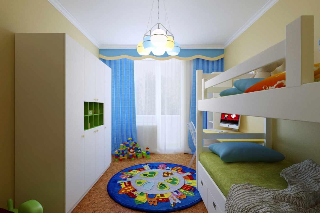 пример светлого стиля детской комнаты